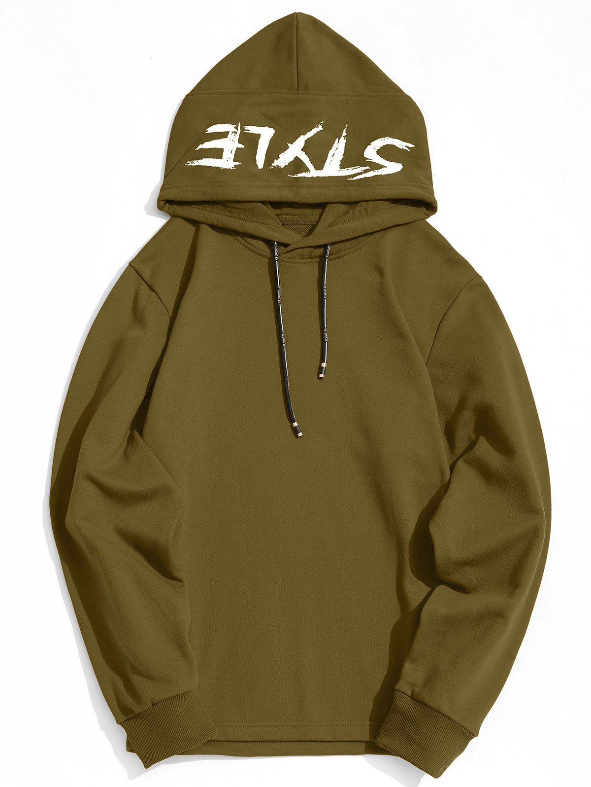 Style Graphic Side Zipper Hoodie - ARMY GREEN XL