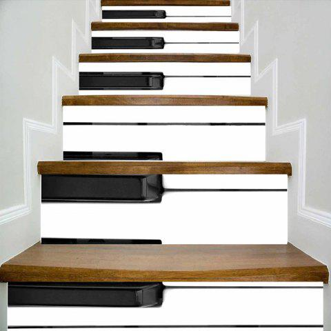 Piano Keyboard Stair Riser Stickers - BLACK WHITE 100*18CM*6PCS