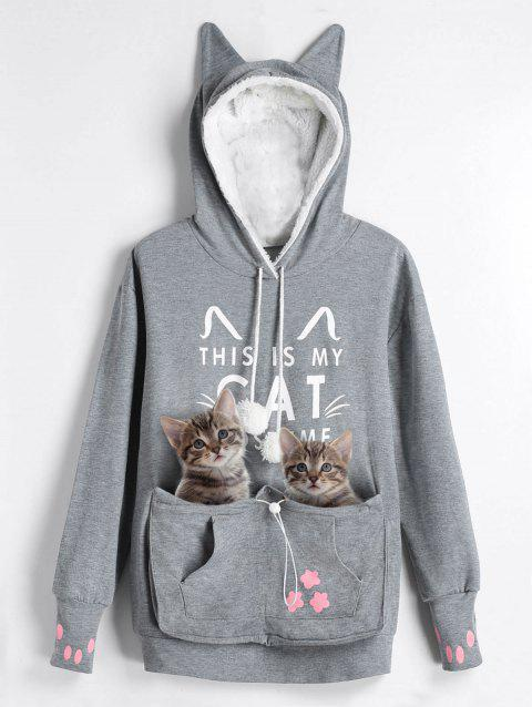 79e2442e4eaeb LIMITED OFFER  2019 Plus Size Cat Kangaroo Pouch Pocket Hoodie In ...