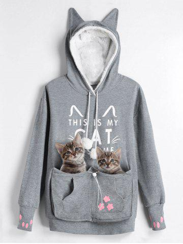 Winter Hoodie Online Store Best Winter Hoodie For Sale - Hoodie with kangaroo pouch is the perfect cat accessory