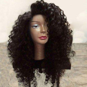 Long Side Parting Shaggy Deep Wave Synthetic Lace Front Wig - NATURAL BLACK NATURAL BLACK
