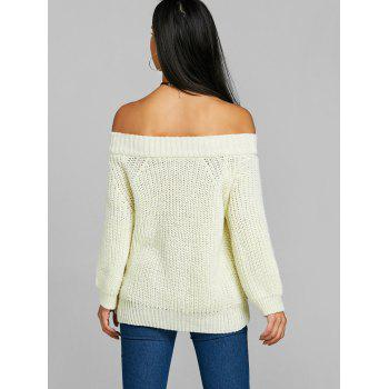 Off The Shoulder Tunic Chunky Sweater - PALOMINO ONE SIZE