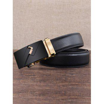 Vintage Metal Auto Buckle Embellished Artificial Belt - GOLDEN GOLDEN