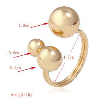 Causal Metal Round Cuff Ring - GOLDEN ONE-SIZE