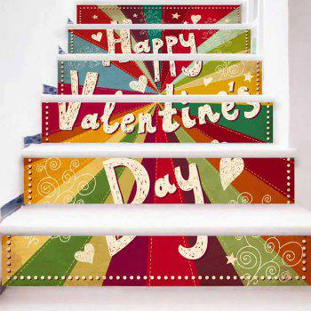 Valentine's Day Pattern Colorful Stair Riser Stickers - COLORFUL COLORFUL