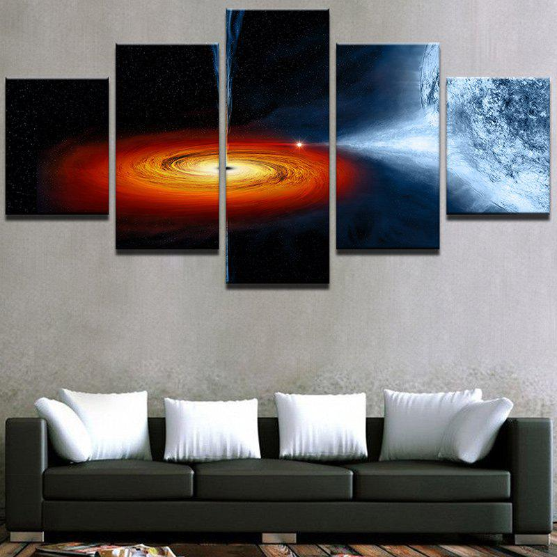 Starry Earth Universe Print Wall Art Canvas Paintings burning guitar pattern unframed wall art canvas paintings