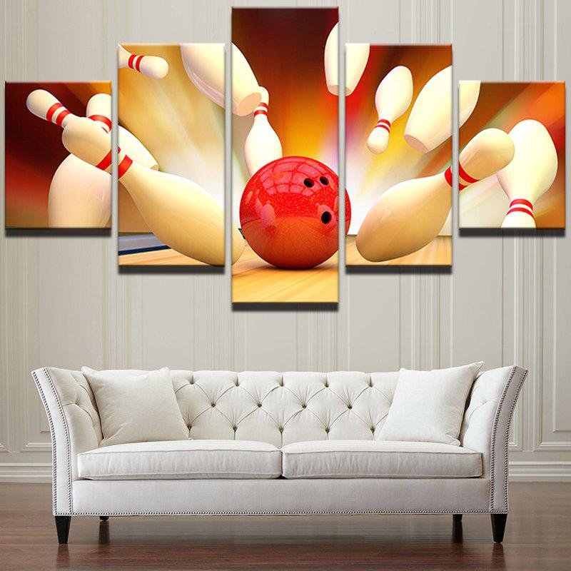 Bowling Game Pattern Unframed Canvas Wall Art Paintings wall art wolf pattern unframed canvas paintings