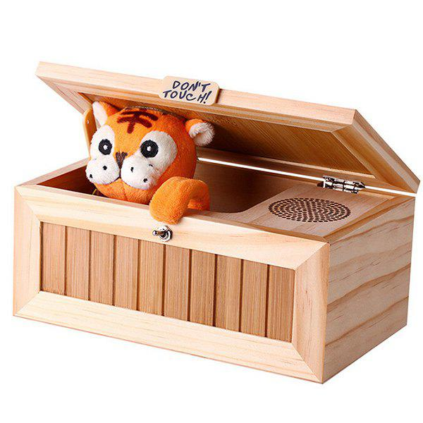 Funny Angry Tiger Electronics Magic Boring Box with Sound aluminum project box splitted enclosure 25x25x80mm diy for pcb electronics enclosure new wholesale