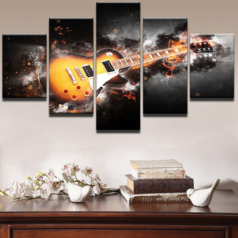 Burning Guitar Pattern Unframed Wall Art Canvas Paintings xeltek private seat tqfp64 ta050 b006 burning test