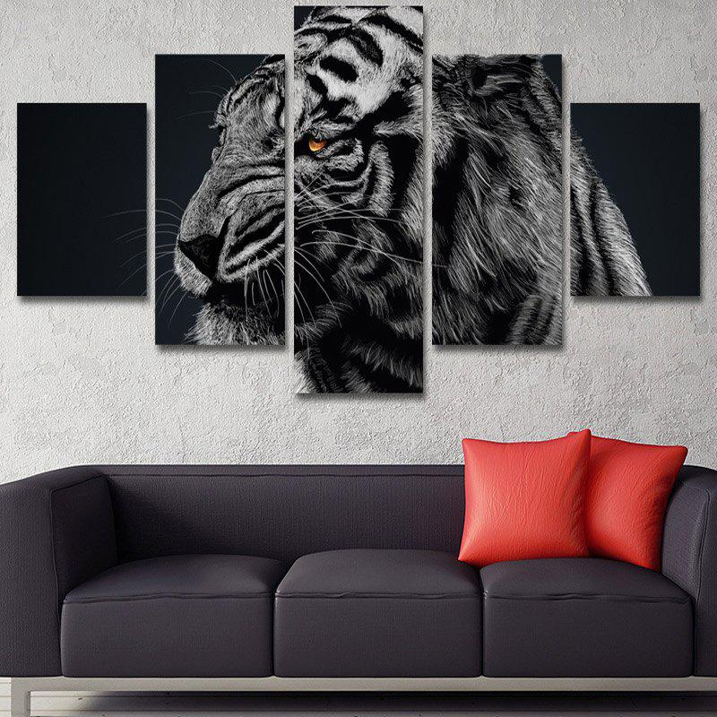 Angry Tiger Print Unframed Canvas Wall Art Paintings wall art wolf pattern unframed canvas paintings