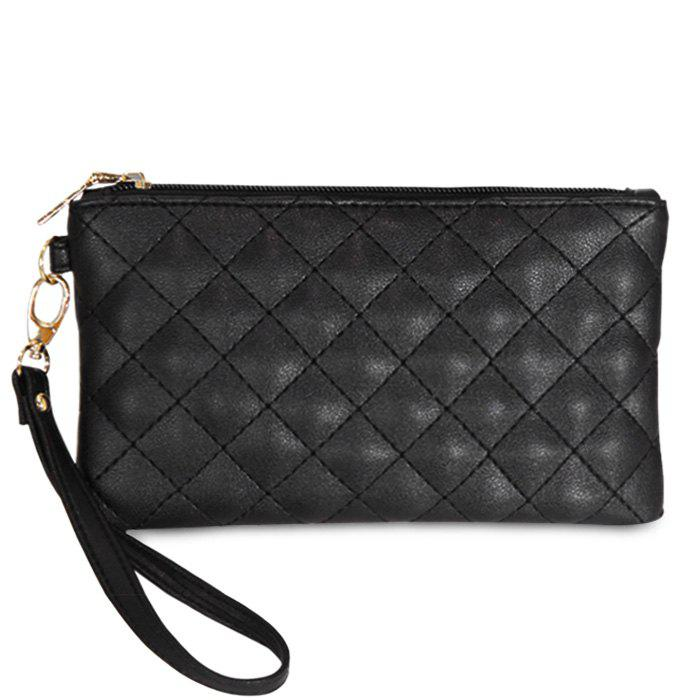 Quilted Faux Leather Wristlet