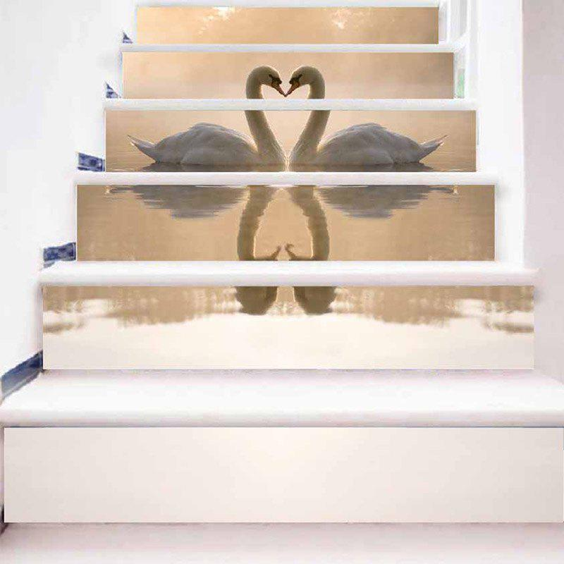 Swan Lover Stair Riser Stickers - CHAMPAGNE 100*18CM*6PCS