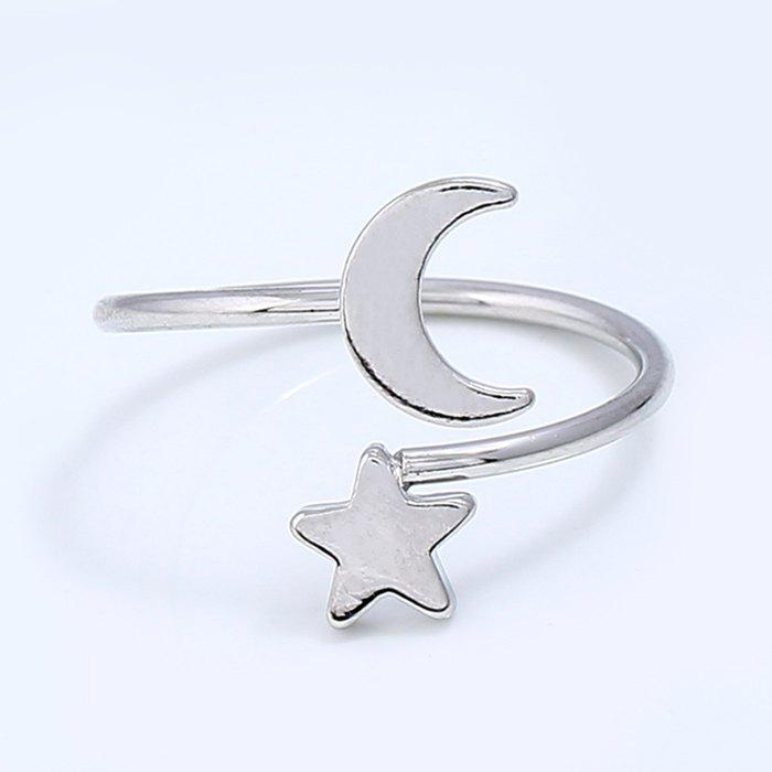 Metal Moon and Star Shap Cuff Ring moon flac jeans