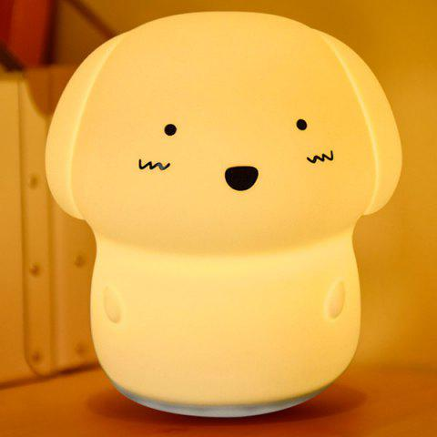 7 Colors Changing Sound Recording Adorable Dog Nightlight - WHITE