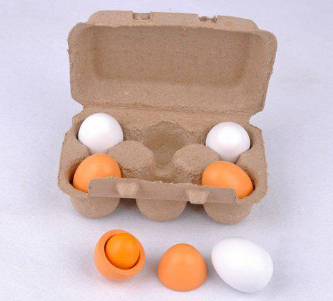Wooden Simulation Eggs Children Educational Toys - COLORFUL