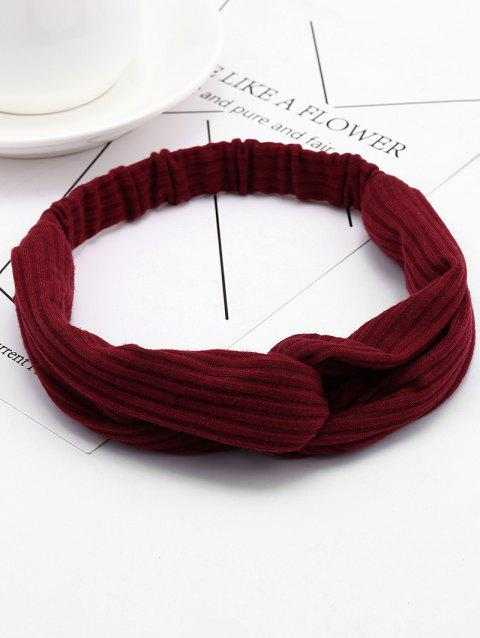 Vintage Crochet Elastic Hair Band - WINE RED