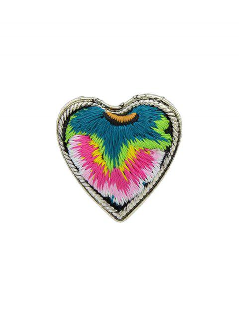 Love Heart Shape Embroidery Ring - RED ONE-SIZE
