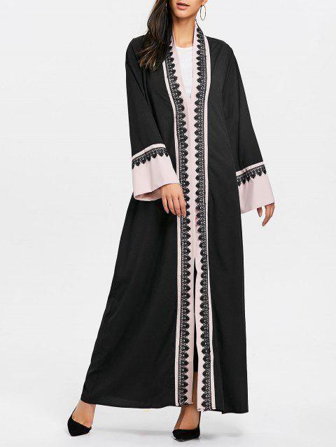 Bell Sleeve Longline Trench Coat - PINK M