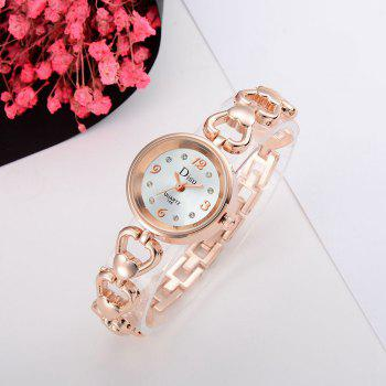Montre strass strass alliage de coeur - Or Rose