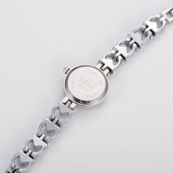 Heart Alloy Strap Number Watch - SILVER