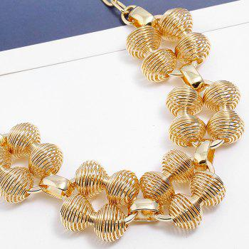 Hollow Out Statement Pendant Necklace - GOLDEN
