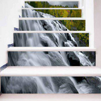 Waterfall Pattern Decorative DIY Stair Stickers - COLORMIX 100*18CM*6PCS