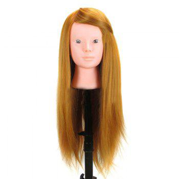 Long Straight Synthetic Wig Mannequin Head For Training Hairdressing - GOLDEN GOLDEN
