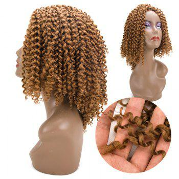 Short Twist Braids Jerry Curly Synthetic Hair Extensions - GOLDEN GOLDEN