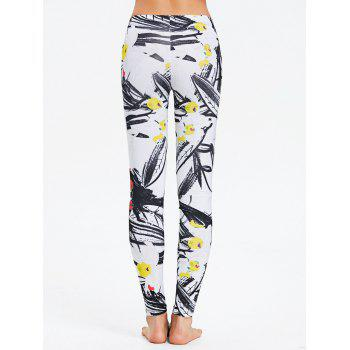 Fitted Painting Print Leggings - COLORMIX L