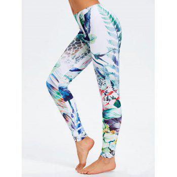 Fitted Forest Painting Leggings - COLORMIX M