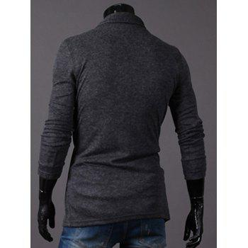Longline Knitted Open Front Cardigan - DEEP GRAY 2XL