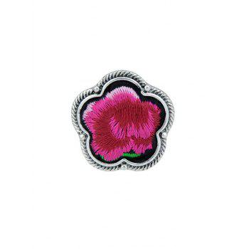Floral Embroidery Decorated Ring - RED RED