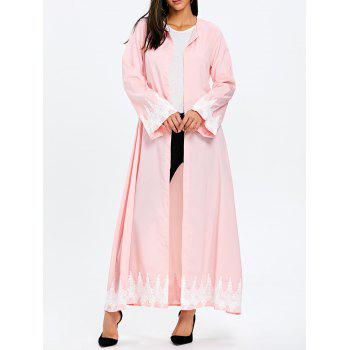 Maxi Trench Coat with Tie Belt - PINK PINK
