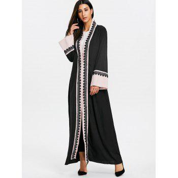 Bell Sleeve Longline Trench Coat - PINK XL