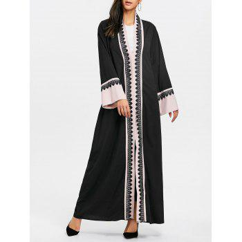 Bell Sleeve Longline Trench Coat - PINK PINK