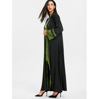 Bell Sleeve Longline Trench Coat - GREEN XL