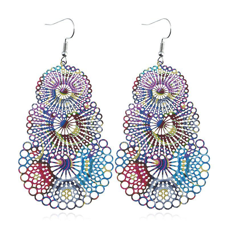 Valentine's Day Geometric Hollow Out Drop Earrings - COLORMIX