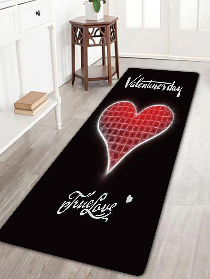 Valentine's Day Heart Pattern Nonslip Flannel Bath Rug цена 2017