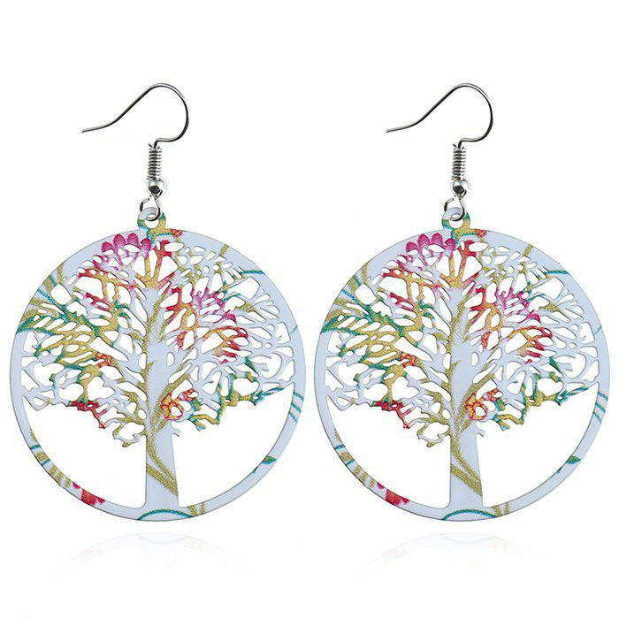 Life Trees Fishhook Drop Earrings - WHITE