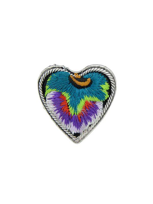 Love Heart Shape Embroidery Ring - PURPLE ONE-SIZE