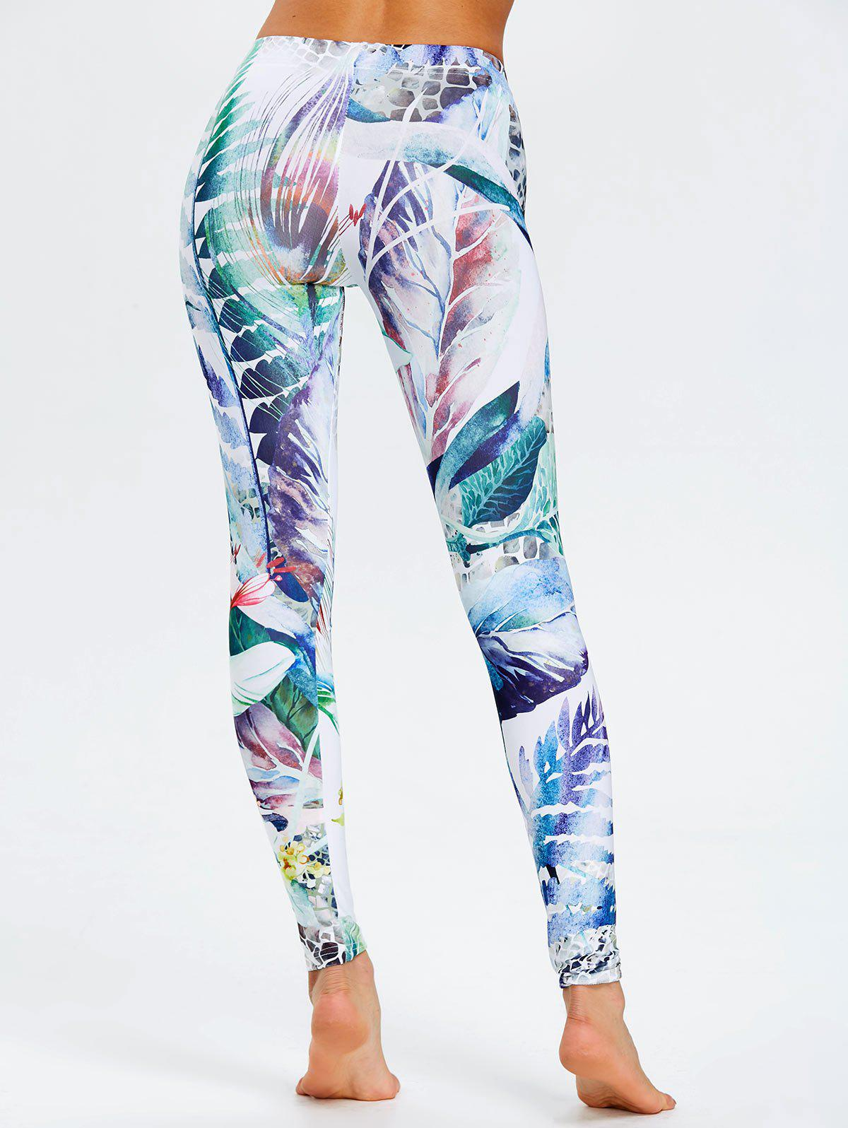 Fitted Forest Painting Leggings - COLORMIX L