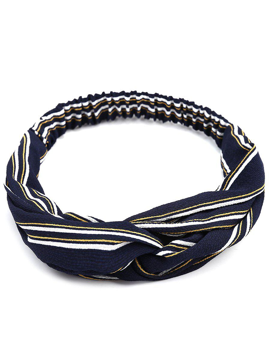 Retro Multi Use Striped Elastic Hair Band - CADETBLUE