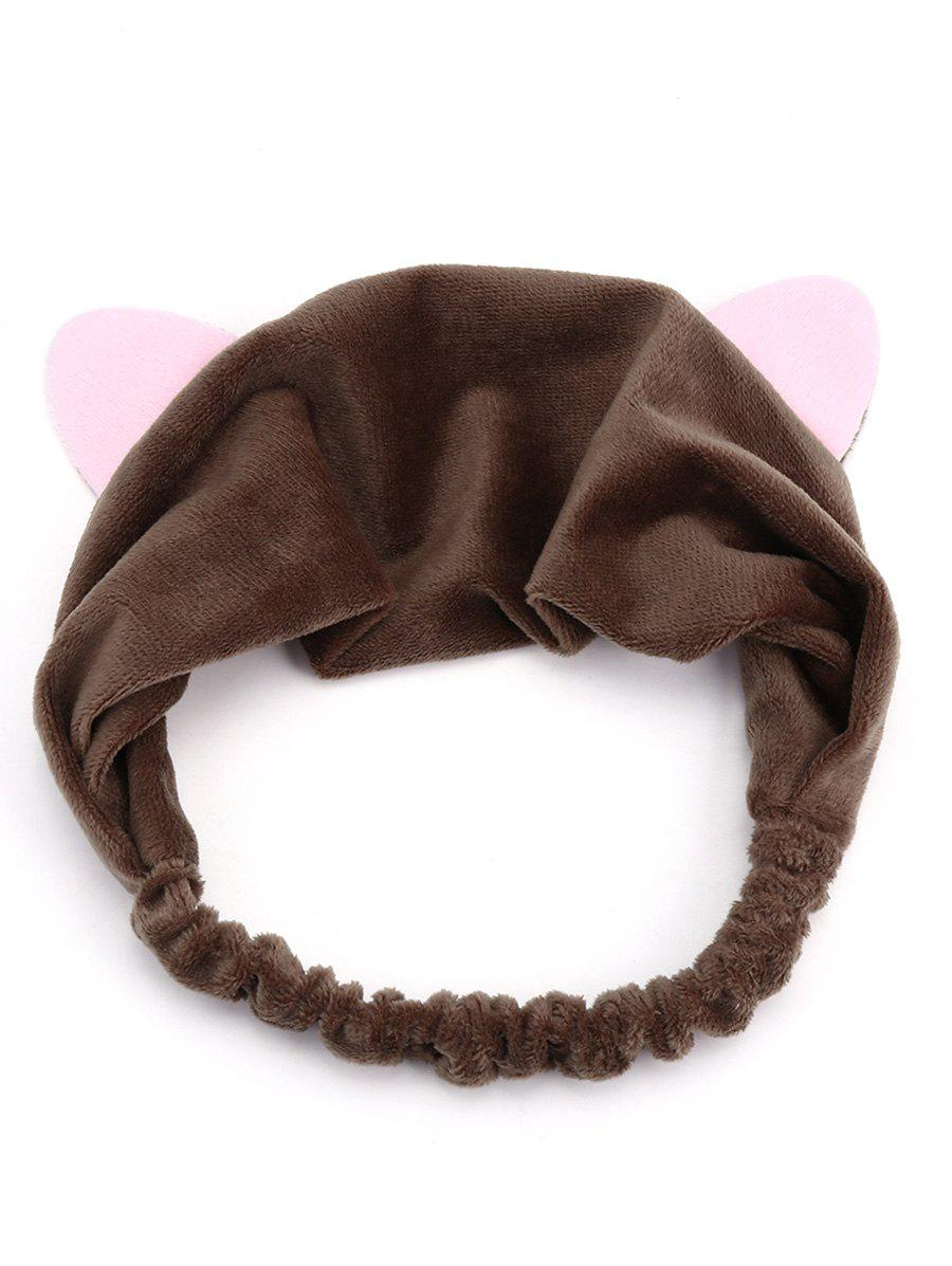 Cute Two Tone Cat Ears Elastic Hair Band cat ears hairband tiara hair accessories for kids cute rabbit plush big hair ball headband hoop 1pcs sweet girls