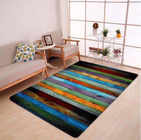 Velvet Colorful Stripe Large Area Rug - COLORMIX W47 INCH * L63 INCH