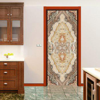 Marbling Door Art Stickers - MULTI multicolor