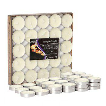 50pcs Smokeless Scented Candles for Valentines Love Confession - WHITE