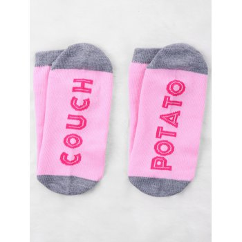 Couch Potato Knitted Crew Socks - PINK