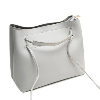 Multi Function PU Leather Shoulder Bag - GRAY GRAY