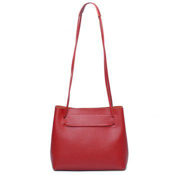 Multi Function PU Leather Shoulder Bag - RED RED