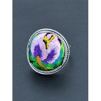 Vintage Embroidery Decorated Ring - PURPLE PURPLE
